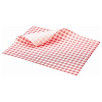 Greaseproof Paper Red Gingham Print 25 x 20cm