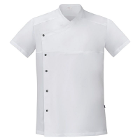 Giblor Lapo Chef Jacket Short Sleeve White
