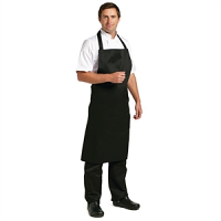 Whites Polycotton Bib Apron Black XL