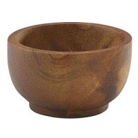 Acacia Wood Dip Pot 6cl/2oz