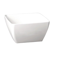 Pure Square Bowl Melamine White - 250x250mm