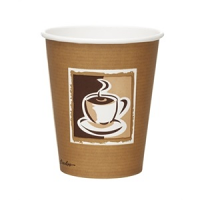 Bistro Single Wall Hot Cups 8oz (Box 1000)