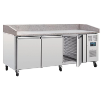 Polar U-Series Bakery Counter Fridge with Marble Work Surface