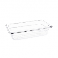 Vogue Polycarbonate 1/4 Gastronorm Container 65mm Clear