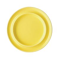 "Olympia Heritage Yellow Raised Rim Plate - 8"" (Box 4)"