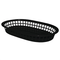Oval Food Basket Black (6pc)
