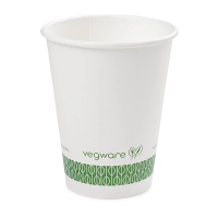 Vegware White Hot Cup - 12oz (Case 1000)