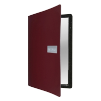 Royal Leather Menu A4 Red