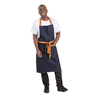 Southside Bib Apron Denim Blue (Tan Ties)