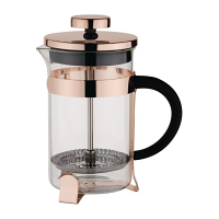 Olympia Copper Contemporary Cafetiere St/St - 6 cup 800ml