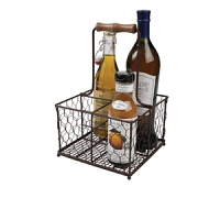 T&G Provence Wire Condiment Holder Brown