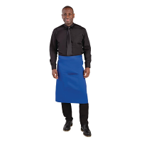 Whites Regular Bistro Apron Blue - 1000x700mm 39.4x27.5""