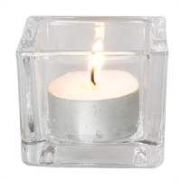 Olympia Glass Tealight Holder Square Clear (6pc)