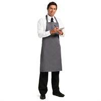 Whites Polycotton Bib Apron Charcoal