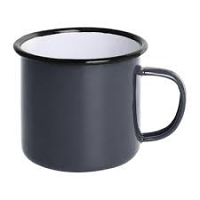 Olympia Enamel Mug Grey 350ml
