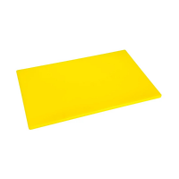 Hygiplas Anti-bacterial Low Density Chopping Board Yellow - 450x300x12mm
