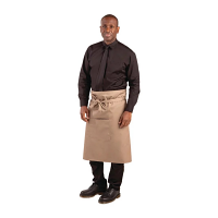 Whites Regular Bistro Apron Tan - 1000x700mm 39.4x27.5""