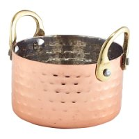 Mini Hammered Copper Casserole Dish 9.2 x 5cm