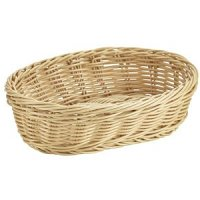 Oval Polywicker Basket 22.5 x 15.5 x 6.5cm