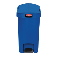 Rubbermaid Slim Step- on Side Pedal Bin Blue 30 Ltr