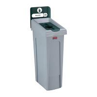 Rubbermaid Slim Jim Recycling Station Single Stream - Glass (Green)