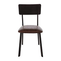 Bolero Metal & PU Side Chair Vintage Mocha
