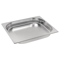 Vogue Stainless Steel 1/2 Perforated Gastronorm Pan 40mm