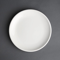 "Olympia Cafe Coupe Plate White - 250mm 10"" (Box 6)"