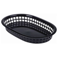 Fast Food Basket Black 27.5 x 17.5cm