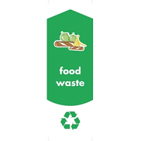 Rubbermaid Food Waste Stickers