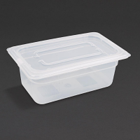 Vogue Polypropylene 1/4GN Pan with Lid 100mm