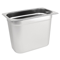 Stainless Steel Gastronorm Pan - 1/4 Size 200mm deep