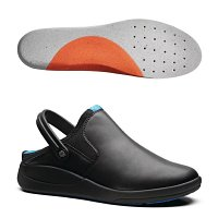 WearerTech Refresh Clog Black with Firm Insoles