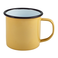 Enamel Mug Yellow 36cl/12.5oz