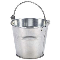 Galvanised Steel Serving Bucket 10cm Dia