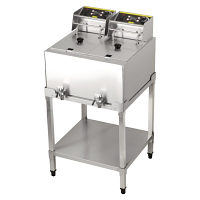 Buffalo Double Tank 6kW Freestanding Fryer 2x8Ltr