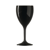 BBP Polycarbonate Wine Glass 312ml Black