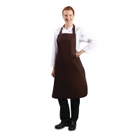 Whites Polycotton Bib Apron Chocolate