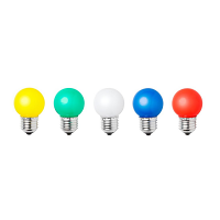 Status LED Coloured Bulbs 0.5W Edison Screw (Pack of 5)