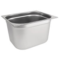 Stainless Steel Gastronorm Pan - 1/2 Size 200mm deep