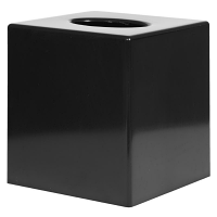 Black Cube Tissue Holder