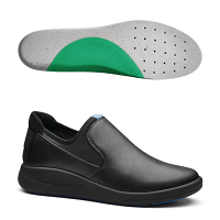WearerTech Vitalise Slip On Shoe Black with Medium Insoles