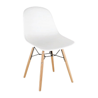 Bolero PP Moulded SideChair (White) with Spindle Legs (Pack 2)