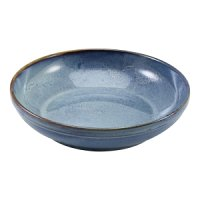 Terra Porcelain Aqua Blue Coupe Bowl 27.5cm
