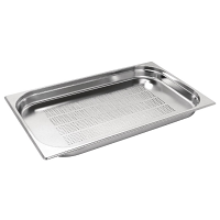 Stainless Steel Perforated Gastronorm Pan - 1/1 Size 40mm deep