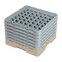 Cambro Camrack Beige 49 Compartments Max Glass - Height 298mm