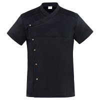 Giblor Lapo Chef Jacket Short Sleeve Black