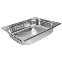 Stainless Steel Perforated Gastronorm Pan - 1/2 Size 65mm deep