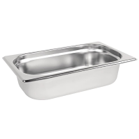 Stainless Steel Gastronorm Pan - 1/4 Size 65mm deep
