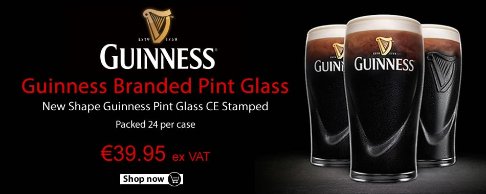 Buy Guinness Branded Pint Glasses online!